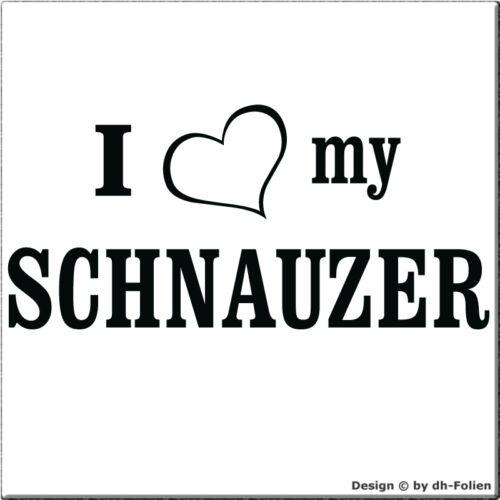 Herz cartattoo4you AI-01297 I LOVE my SCHNAUZER  Auto Aufkleber Hunde Dog
