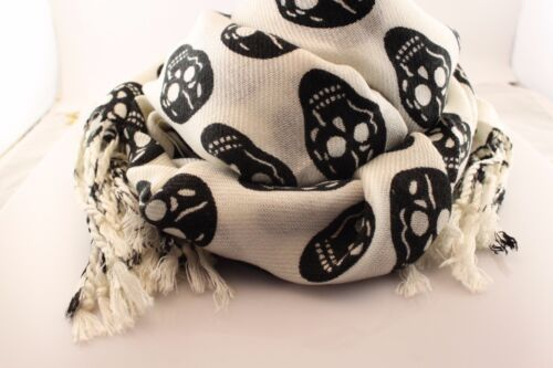 Skull scarf Halloween Gift Warm Winter Scarves Soft Long Wrap Skeleton Shawl
