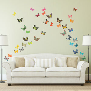 Lovely Image Is Loading Decowall Butterflies Nursery Kids Removable Wall Stickers  Decal