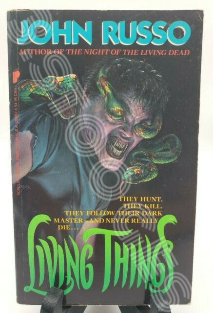 LIVING THINGS by John Russo/1st US/PB *HORROR*
