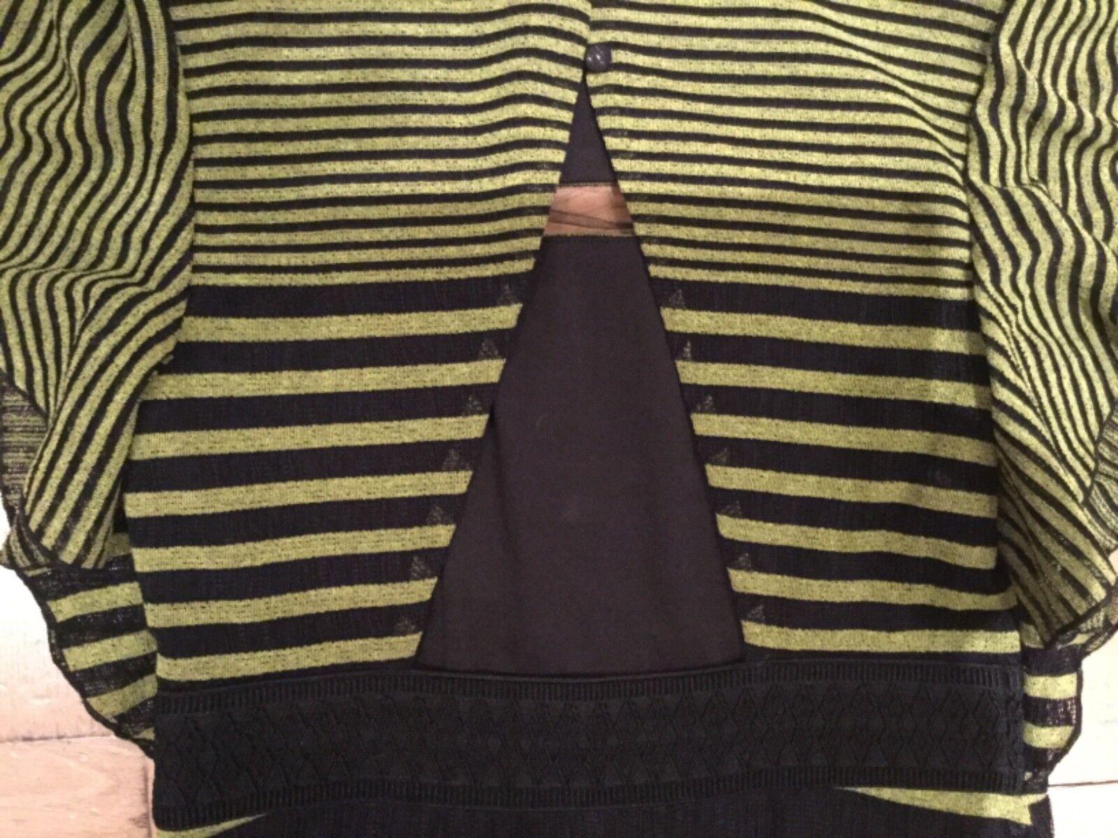Nuovo Nuovo Nuovo con etichette Foxiedox Donna Small  10 a maniche corte CASSIUS a righe Abito FA533DR 3c9cee