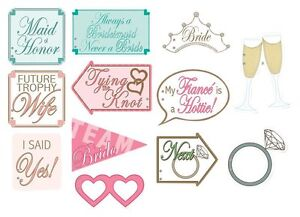 12 Piece Set Wedding Bridal Shower Party Picture Booth Photo Fun