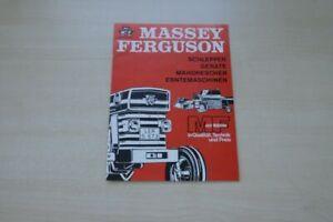 198798) Massey-ferguson-modèle Programme-prospectus 196?-n - Modellprogramm - Prospekt 196? Fr-fr Afficher Le Titre D'origine Limpide à Vue
