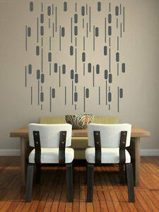 Image is loading Mid-Century-Modern-Wall-Decor-Geometric-Wall-Decal-