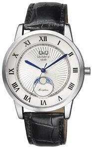 Q-amp-Q-by-Citizen-Herren-Armbanduhr-Uhr-Watch-40-mm-5-ATM-Mondphase-QZ10J307-Moon