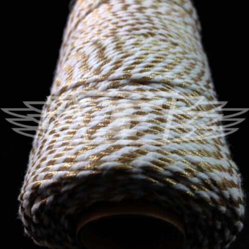 STRING CORD EVERLASTO TWO TONE CHRISTMAS METALLIC GOLD BAKERS TWINE  2mm 2 PLY
