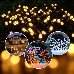 100 200 LED Solar Power Fairy Lights String Garden Outdoor Party Wedding Xmas FN