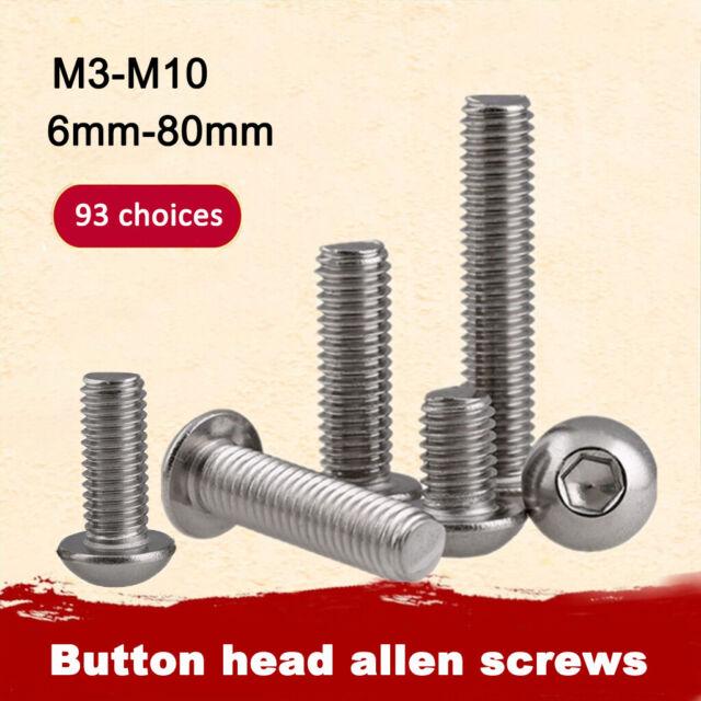Vis /à t/ête bomb/ée M8 en acier inoxydable A2 V2A