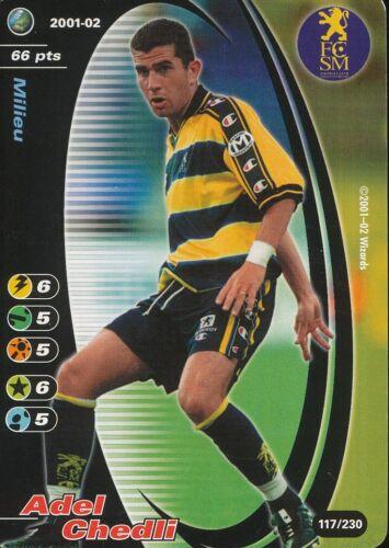 117 ADEL CHEDLI ROOKIE TUNISIE FC.SOCHAUX CARD CARTE WIZARDS CHAMPIONS 2001-2002