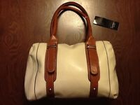 Mondani York Medium Bag Purse Handbag (cream And Brown) Lyn
