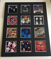 """KISS DISCOGRAPHY PICTURE MOUNTED 14"""" By 11"""" READY TO FRAME"""