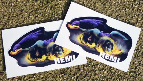 /'ROADRUNNER/' HEMI PLYMOUTH MUSCLE CAR Superbird Retro vintage Stickers Decals