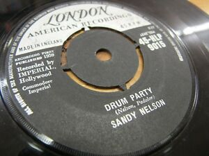 HLP9015-LONDON-AMERICAN-1ST-1959-7-034-45rpm-SANDY-NELSON-034-DRUM-PARTY-034-EX