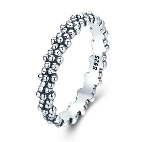 Voroco Europeo Plata Esterlina S925 Daisy anillo de dedo para Joyería de Moda para Mujer