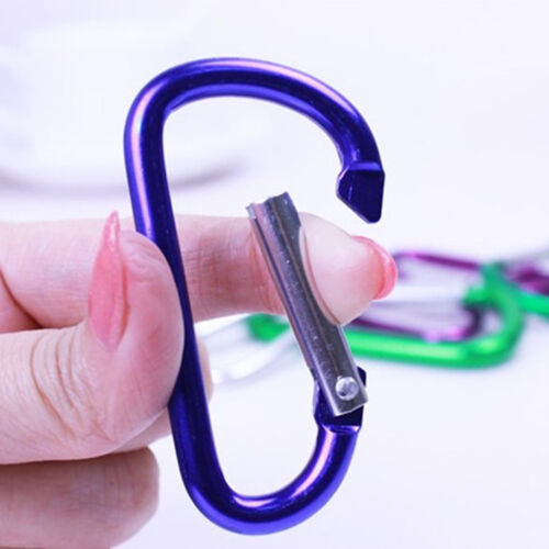 Aluminum Carabiner D-Ring Key Chain Clip Snap Hook Karabiner Camping Keyring