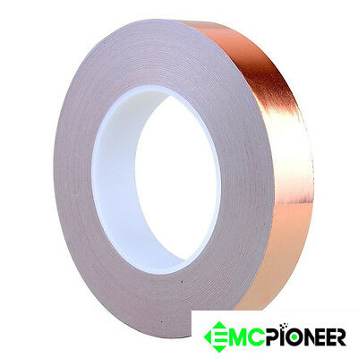 """- EMI Conductive Adhesive // Ship from Copper Foil Tape 1//2/"""" x 36 Yds 12mmx33m"""