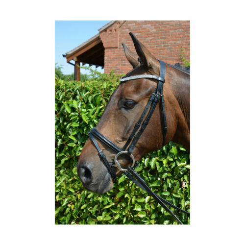 Hy Diamond Flash Bridle with Rubber Reins-Leather-Bling-Black Or Brown-Free P/&P