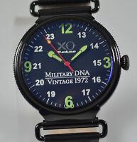 New Mens XO RETRO F4 Phantom 1972 Vietnam Military DNA Leather Black Dial Watch