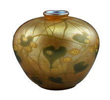 Superb Signed LCT Tiffany Favrile Millefiori Art Glass Vase w/ Embedded Canes