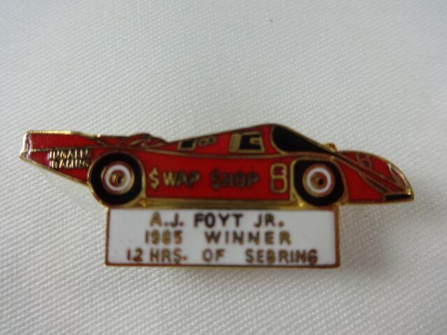 1985 A.J. Foyt 12 Hours of Sebring Winner Collector Pin #8 Porsche 962 Swap Shop