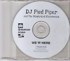 (EN72) DJ Pied Piper & The Masters Of Ceremonies, We 'R' Here - 2001 DJ CD