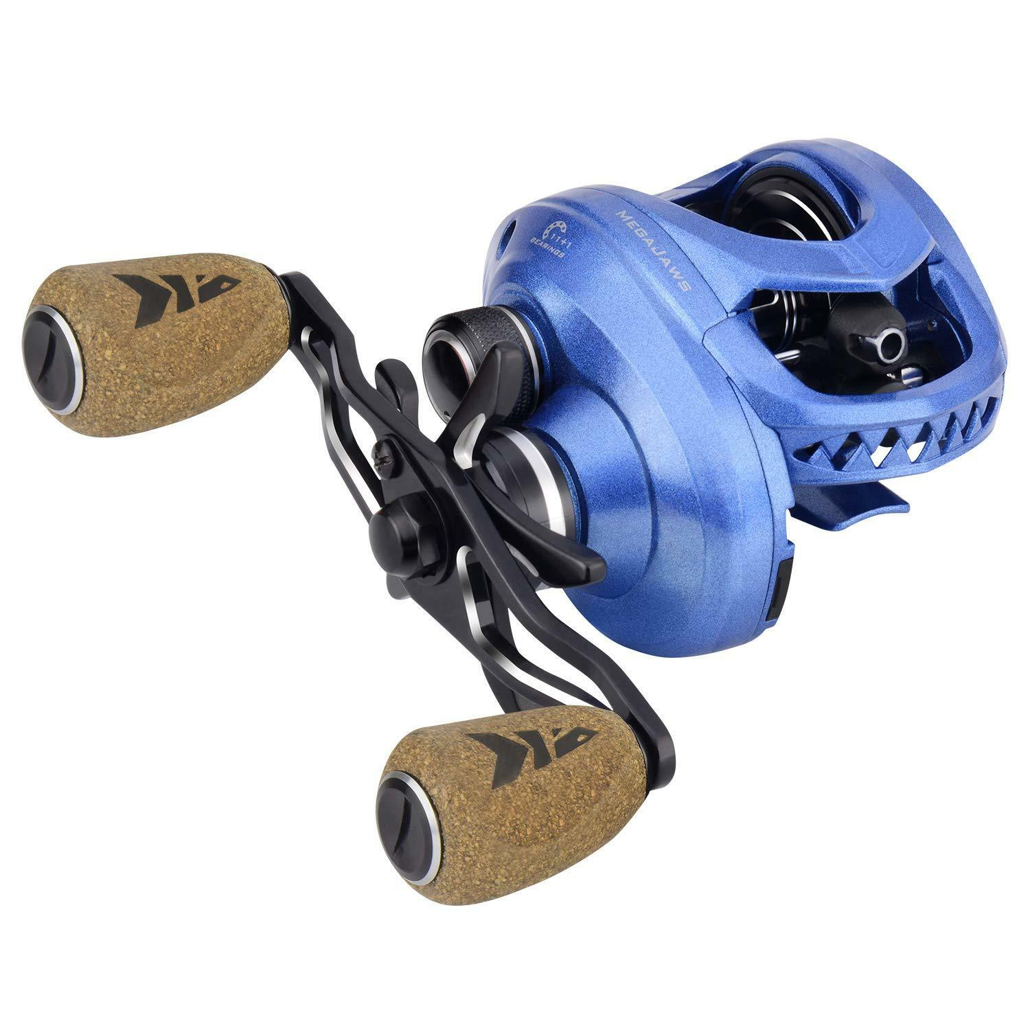 KastKing MegaJaws Baitcasting Reel Industry First color-Coded Gear Ratios fro...