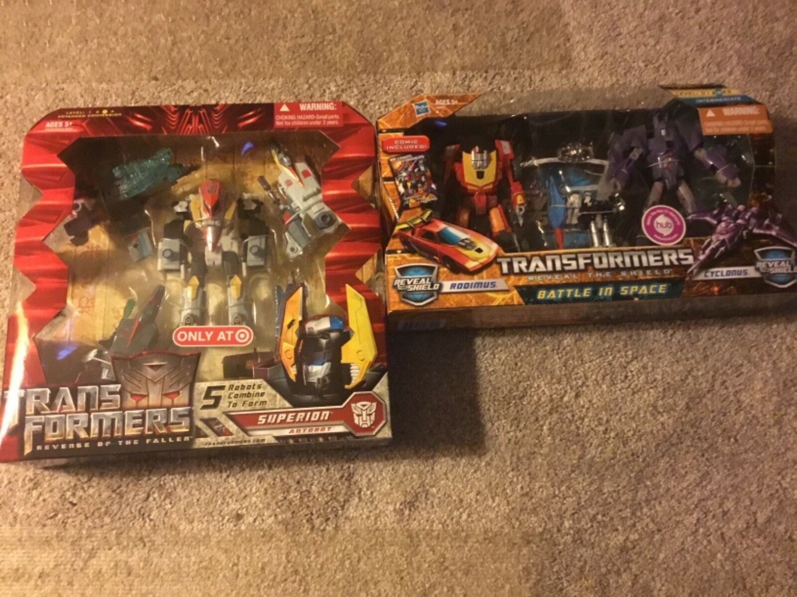 ✰ Transformers Reveal the Shield Rodimus Cyclonus and Target exclusive superion