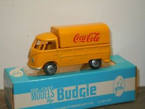 VW-Volkswagen-T1-Pick-Up-Coca-Cola-Budgie-Toys-England-in-Box-35005
