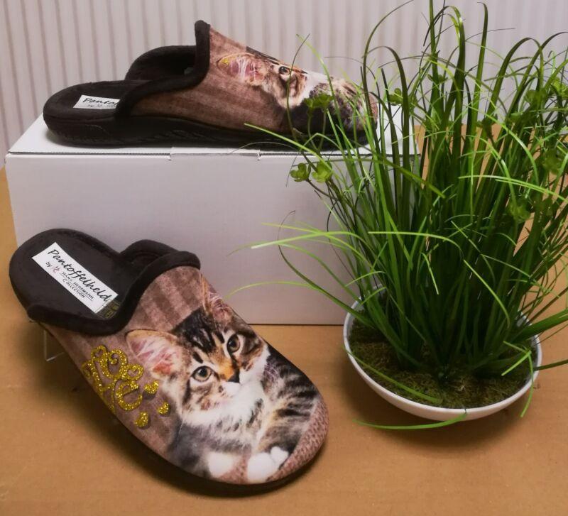 Damen-pantoffeln Mit Motiv, Beige/hellgrau, Neu, Größe 36 Schmerzen Haben