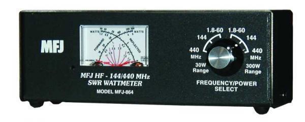 MFJ-864 HF/VHF/UHF (1.8-60/144/440 MHz) Cross Needle SWR/Wattmeter, 30/300W. Available Now for 134.95