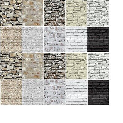 Arthouse Country Stone Wallpaper 696500 Brick Wall Grey Beige Natural Rustic NEW