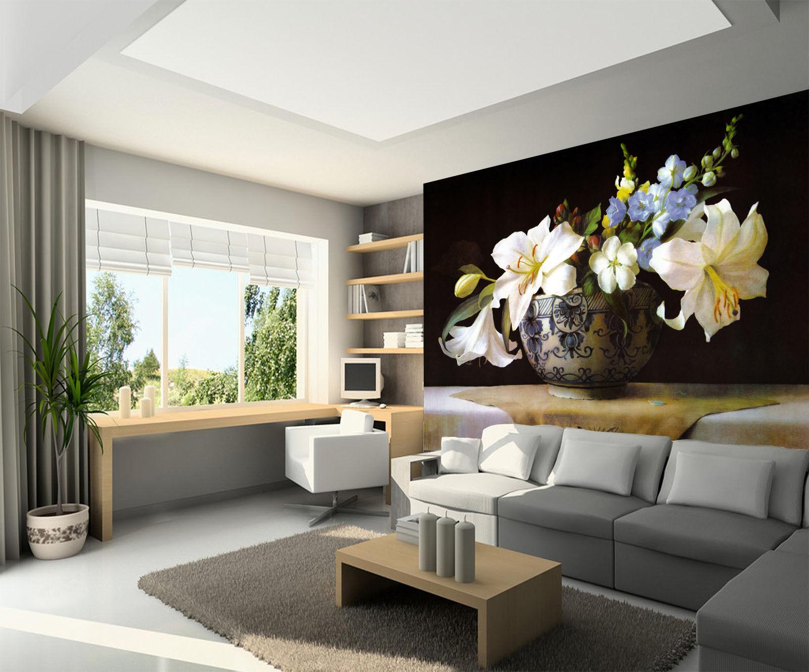 3D 3D 3D Lily Orchids 733  Wall Paper Murals Wall Print Wall Wallpaper Mural AU Kyra 1bde71