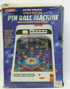 Vintage-Blue-Box-Toys-Space-Battle-Pinball-Machine-Battery-Operated-Table-Top