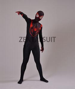 Halloween Cosplay Suit Spiderman Costume Ultimate Miles Morales Superhero