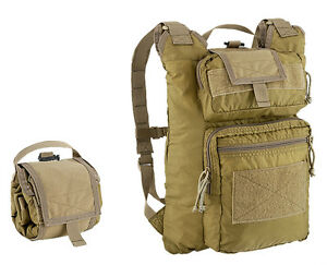 Zaino-Tattico-Militare-Ripiegabile-Defcon-5-Rollypoly-Pack-Verde-Nero-Tan