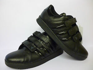 Image is loading Adidas-Boys-Black-Trainers-School-Shoes-Size-5-
