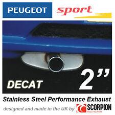 "PEUGEOT SPORT GROUP N EXHAUST PEUGEOT 106 GTI RALLYE XSI  2"" ROLLED IN TAILPIPE"