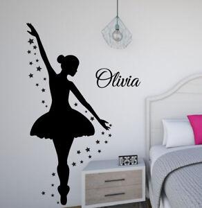 Ballerina Wall Decal Set removable stickers girl bedroom decor mural dance art