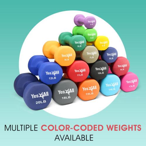 Yes4All 6 lb Dumbbell Weight Set with Non-Slip Grip Neoprene Dumbbell Pair