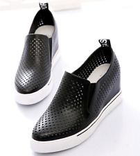 d4f43f6b1e item 2 Womens Wedge Heel Sneakers Pointed Toe Breathable Sports Shoes Slip  On Size -Womens Wedge Heel Sneakers Pointed Toe Breathable Sports Shoes Slip  On ...