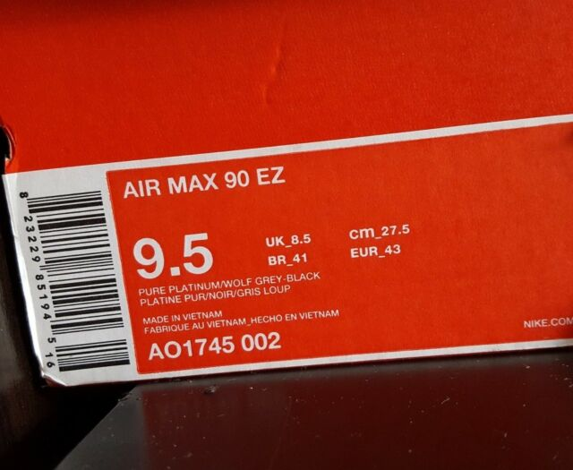 check out cc713 085e5 Nike Air Max 90 EZ Mens Ao1745-002 Grey Black Crimson Running Shoes Size 9.5  for sale online   eBay