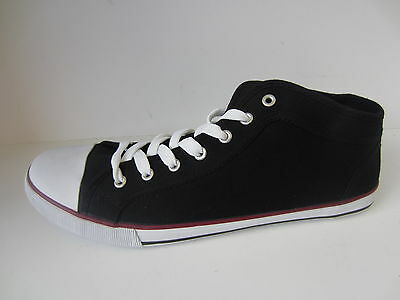 Para Hombre Black/navy Spot On De lazada Lona Zapatos Tamaños Reino Unido 7 - 12 A2097