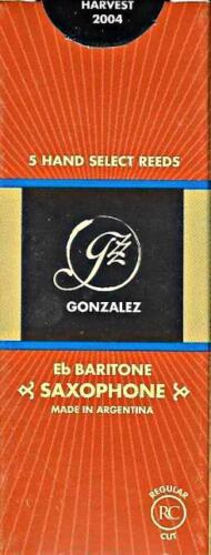 Gonzalez #4.25 Baritone Saxophone Reeds Box of 5 Reeds BRAND NEW