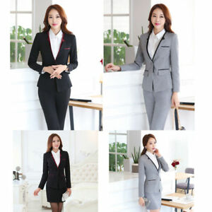 discount select for official coupon codes Details about Formal Office Uniform Women Suit With Skirt/pants for  Business Work Wear Set 5XL
