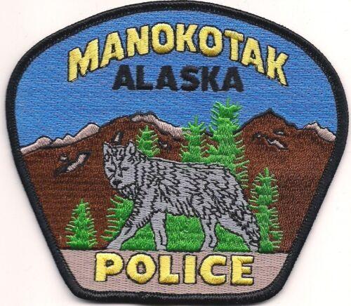 Wolf! MANOKOTAK Police Aufnäher Patch Abzeichen Polizei Stoffabzeichen ALASKA