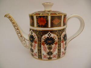 ROYAL CROWN DERBY OLD IMARI 1128 PATTERN  TEA POT 1ST QUALITY - <span itemprop=availableAtOrFrom>West Wickham, United Kingdom</span> - ROYAL CROWN DERBY OLD IMARI 1128 PATTERN  TEA POT 1ST QUALITY - West Wickham, United Kingdom