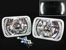 TOYOTA PICKUP TRUCK 7 X 6 INCH CHROME SEALED BEAM WHITE LED HEADLIGHT W/ H4 BULB
