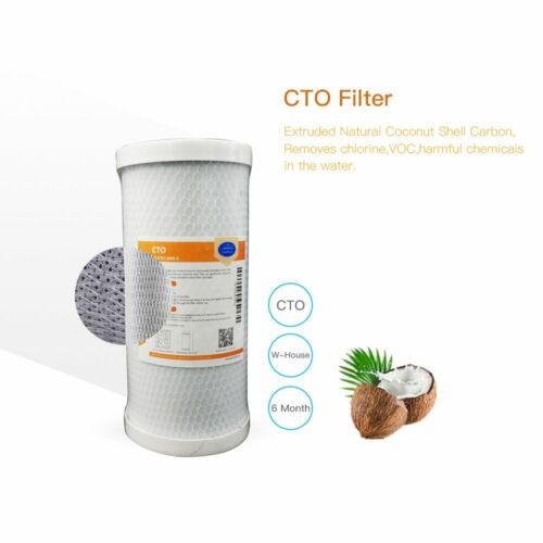 2x CTO Coconut Shell Carbon Block Water Filter Cartridge Whole House 10x4.5/""
