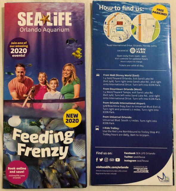 2020 Sea Life Aquarium Feeding Frenzy Brochure Map Orlando ...