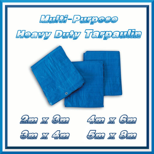 4x6m Azul Fuerte Lona Resistente Impermeable cubierta del tiempo prueba Hootch Lona